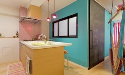 ハンモックのある暮らし (キッチン1)
