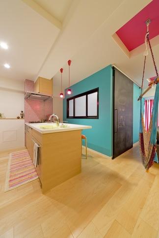 ハンモックのある暮らしの写真 キッチン1