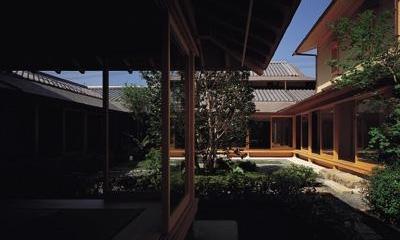 藪椿の家 (中庭へのアプローチ)