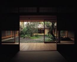 藪椿の家 (和室から中庭を眺める)