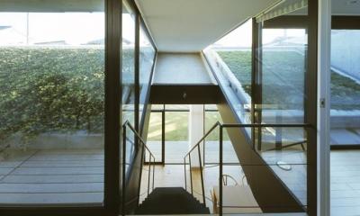 階段上からの眺め|前橋の家