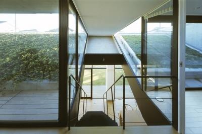 前橋の家 (階段上からの眺め)