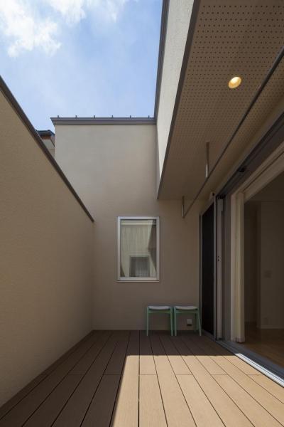 home KZ (青空を眺めることのできるウッドデッキ)