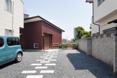 埼玉の家/O邸 (アプローチとなる西側外観)