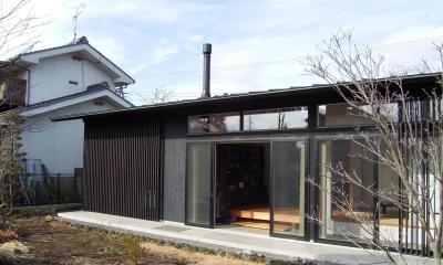 南となる庭側の眺め|佐久平の家/A邸