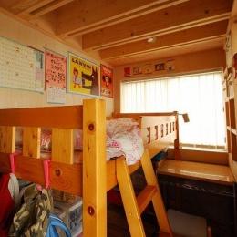 47/100 石神井台の木箱 (木のぬくもり感じる子供部屋1)