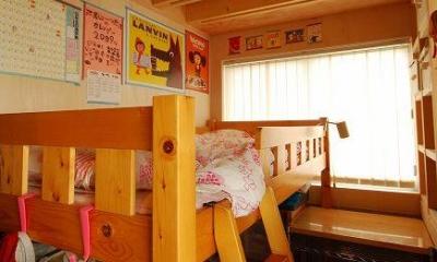 木のぬくもり感じる子供部屋1|47/100 石神井台の木箱