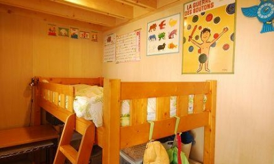木のぬくもり感じる子供部屋2|47/100 石神井台の木箱