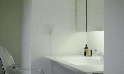 青木ビル (クールな印象の洗面所)