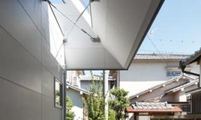 house AA (個室と大屋根とのスキマ(撮影:KAI NAKAMURA))