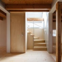 木のぬくもり感じる階段(撮影:KAI NAKAMURA) (house AA)