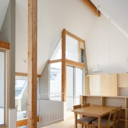 house AA (天井の高いLDK-2(撮影:KAI NAKAMURA))