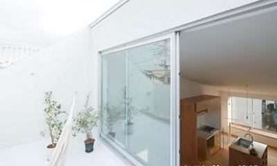 開放的な屋上テラス(撮影:西川公朗)|クウハウス