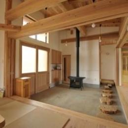 雉やまの家 (薪ストーブのある玄関土間)