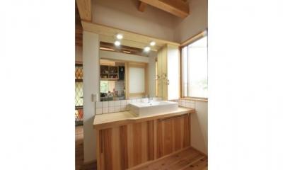 洗面所|雉やまの家