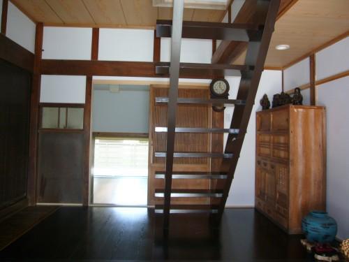 Wa邸の部屋 スケルトンの階段