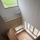 読書する家の写真 最上階のホールから見下ろす(撮影:上田宏)