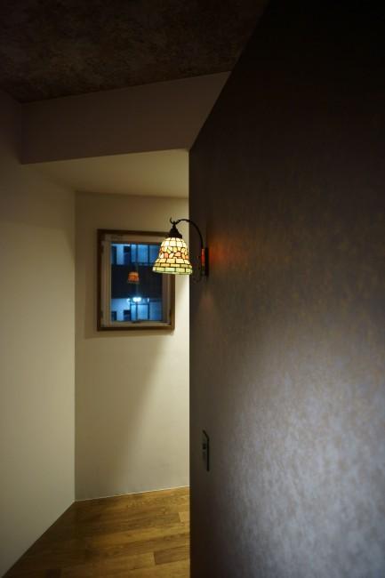 神泉リノベーション(東京都目黒区S邸)の部屋 ベッドルームの照明(撮影:樽井利和)
