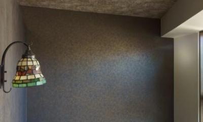 神泉リノベーション(東京都目黒区S邸) (シックなベッドルーム(撮影:樽井利和))