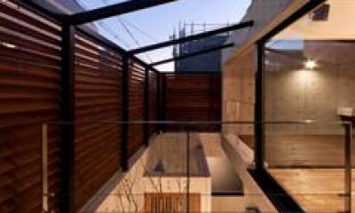 エントランス空間-上方(撮影:車田写真事務所)|東区 アオダモの家