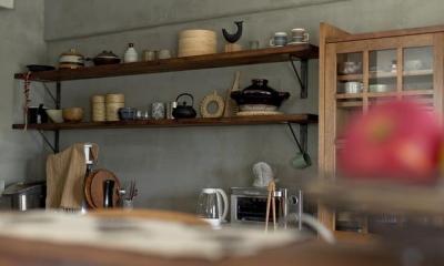 ヘリンボーンと大好きな和民芸 (キッチン4)