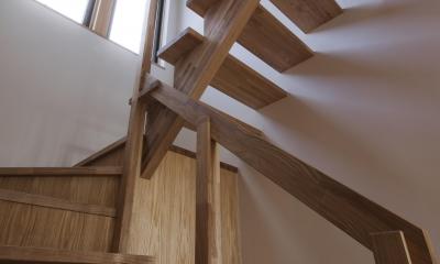 趣味を充実させた家 (階段)