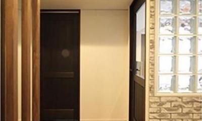 渋谷区  ヴィンテージ感溢れるデザインと快適性の両立 (玄関)
