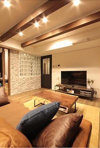 渋谷区  ヴィンテージ感溢れるデザインと快適性の両立 (LDK)