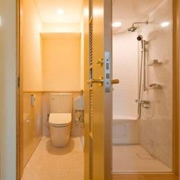 花游雲月亭(大谷邸) (2階-WC&シャワーユニットルーム(撮影:幸田青滋))