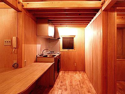 T-BOXの部屋 木のぬくもり感じるキッチン