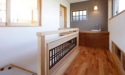 階段|古材が活きる家
