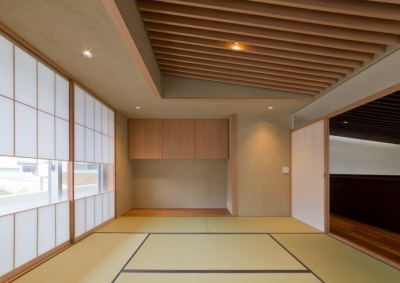 和室 (NAG-house  スキップフロアーの家)