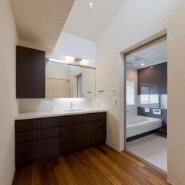 NAG-house  スキップフロアーの家 (洗面・浴室)