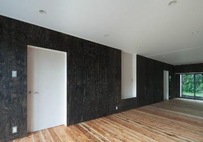 鳥栖の住宅01 (アクセントのホワイトドア(撮影:Y.Harigane))