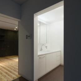 鳥栖の住宅01 (洗面スペース(撮影:Y.harigane))