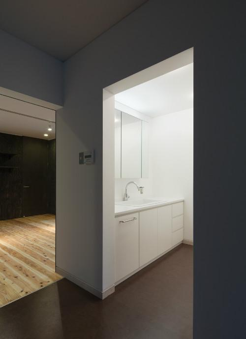 鳥栖の住宅01の部屋 洗面スペース(撮影:Y.harigane)
