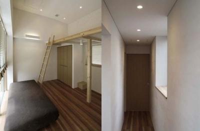 寝室・廊下 (九条の家)