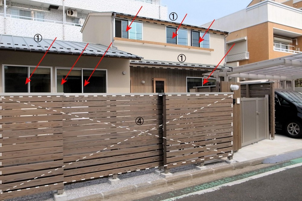 横浜の二世帯住宅 (エクステリア)