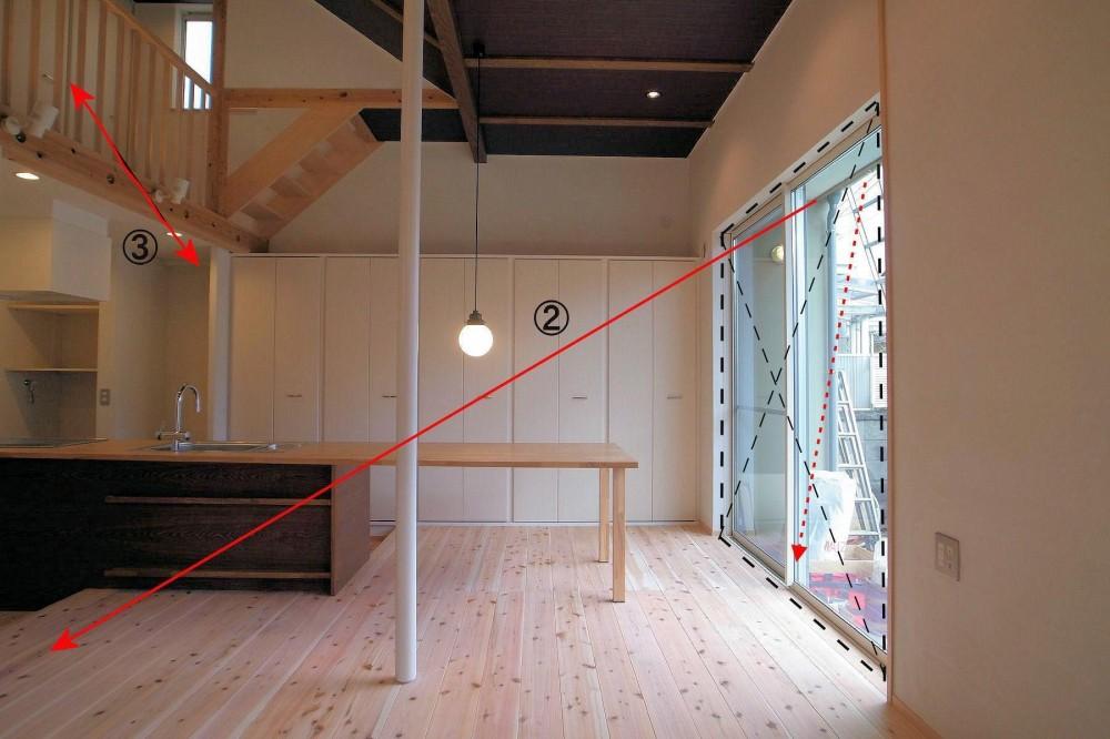 横浜の二世帯住宅 (リビング)