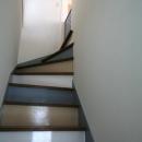 カラフルな配色の階段