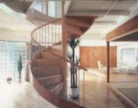 伊勢市 Y邸の部屋 螺旋階段