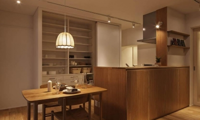 Kitashirakawa Apartment (リビング・ダイニング3)