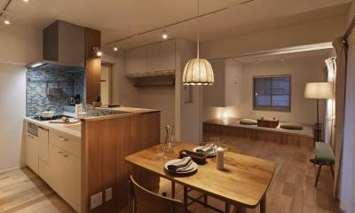 Kitashirakawa Apartment (リビング・ダイニング4)