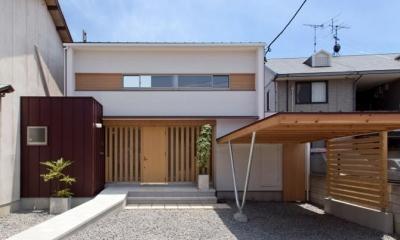 外観-玄関|平屋のコートハウス