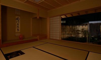 和に合う、ミッドセンチュリー家具との住空間 (表千家 本間割り茶室)