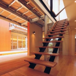 HOUSE O+U (階段(撮影:JIKUart))