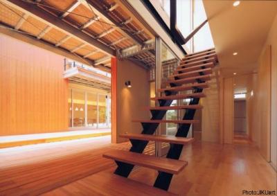 階段(撮影:JIKUart) (HOUSE O+U)