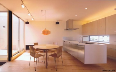 ダイニングキッチン-A(撮影:JIKUart) (HOUSE O+U)