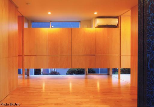 HOUSE O+Uの写真 ベッドルーム-B1(撮影:JIKUart)