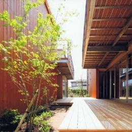 HOUSE O+U (二世帯住宅の空間のつながり1(撮影:JIKUart))